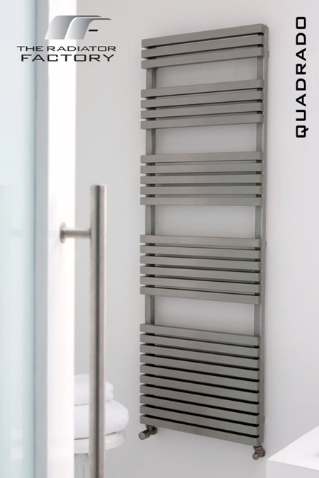 Quadrado Stainless Towel Rail-0