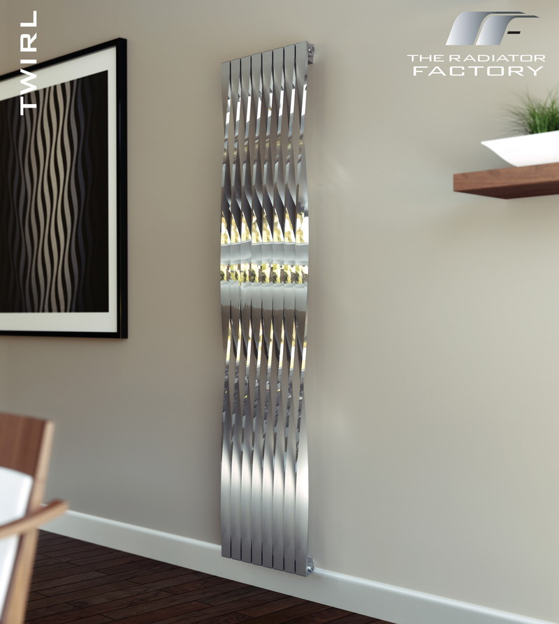 stainless steel mirrored designer radiator