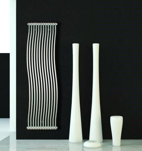 Tesi runner vertical column radiator with its sleek modern design and wavy design