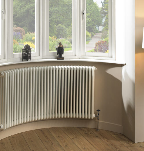 CRU-CURVED COLUMN BAY WINDOW RADIATOR available at The Radiator Factory